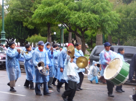 It's a wet carnival in Sucre