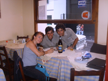 Drinking Salta beer with Alvaro and Ariel