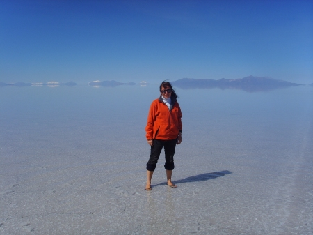 Standing on the Salar de Uyuni