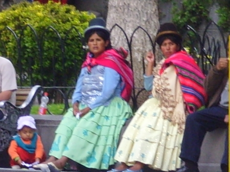 Bolivian local attire in La Paz